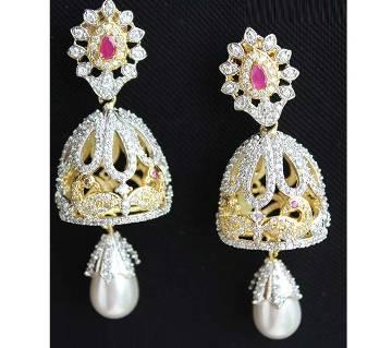Diamond Cut Jhumka Style Ear Ring-310