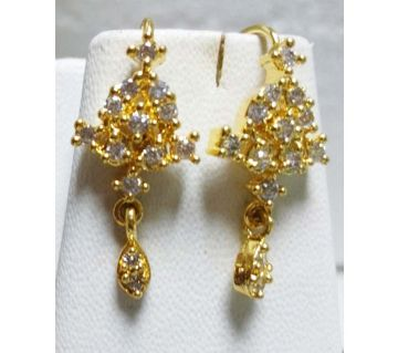 Gold plated diamond cut earrings