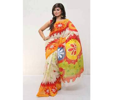 Cotton Kota Hand Print Saree