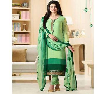 Indian Unstiched Cotton Embroidery Three-Piece (Replica)