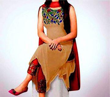 Unstitched Georgette Embroidery work Salwar Kameez