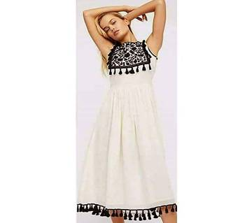 Unstiched Georgette Embroidery One Piece