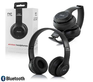 P47 Headband Foldable Stereo Bluetooth Headphones Wireless