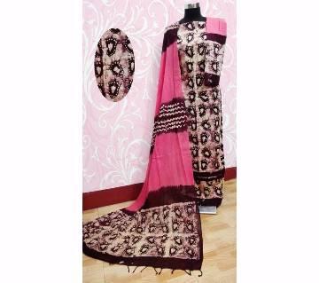 Unstitched Batik Cotton Three-pcs