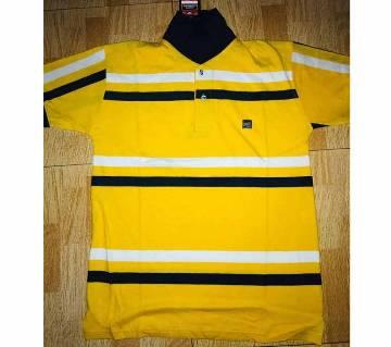 Half sleeve cotton Polo shirt for men -yellow