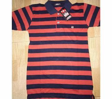 Half sleeve cotton Polo shirt for men -Stripe