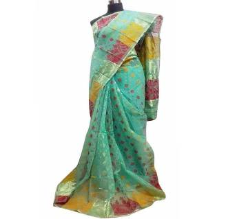 maslin sharee for women with blouse piece