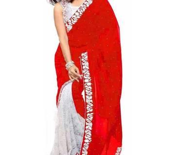 Indian Soft wetless jorjet Saree