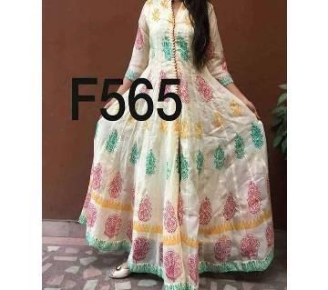Stitched Ladies Cotton Long kurti