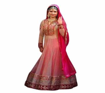 Indian Semi-Stitched Georgette Embroidery Lehenga (Copy)