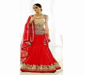 Indian Semi-Stitched Embroidery Georgette Lehenga (Copy)