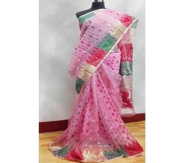 Pure Muslin Silk Saree with blouse piece