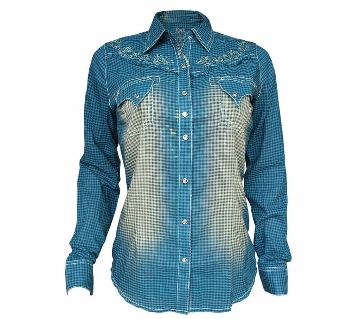 Casual Half Sleeve embroidery Shirt For Women