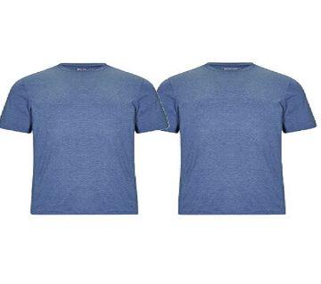 Blue Color Round Color T-shirt (Combo)