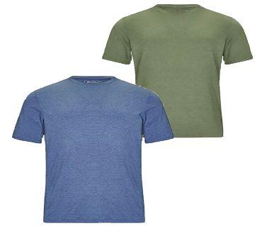 Olive & Blue Color Tshirt_Combo Offer