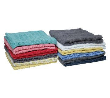 12 Piece Assorted Color Wash Towel 11X12 inch