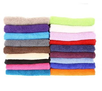6 Piece Assorted Color Hand Towel