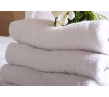 4 Piece White Bath Towel