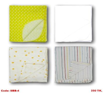 4 Piece Assorted Color Baby katha/Blanket
