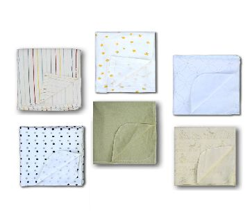 6 Piece Assorted Color Baby katha/Blanket