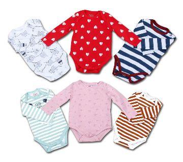 6pcs Assorted Baby Body Suit