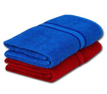2pcs Premium Quality 100% Pure Cotton Large Size (27x54inchs) Bath Towel