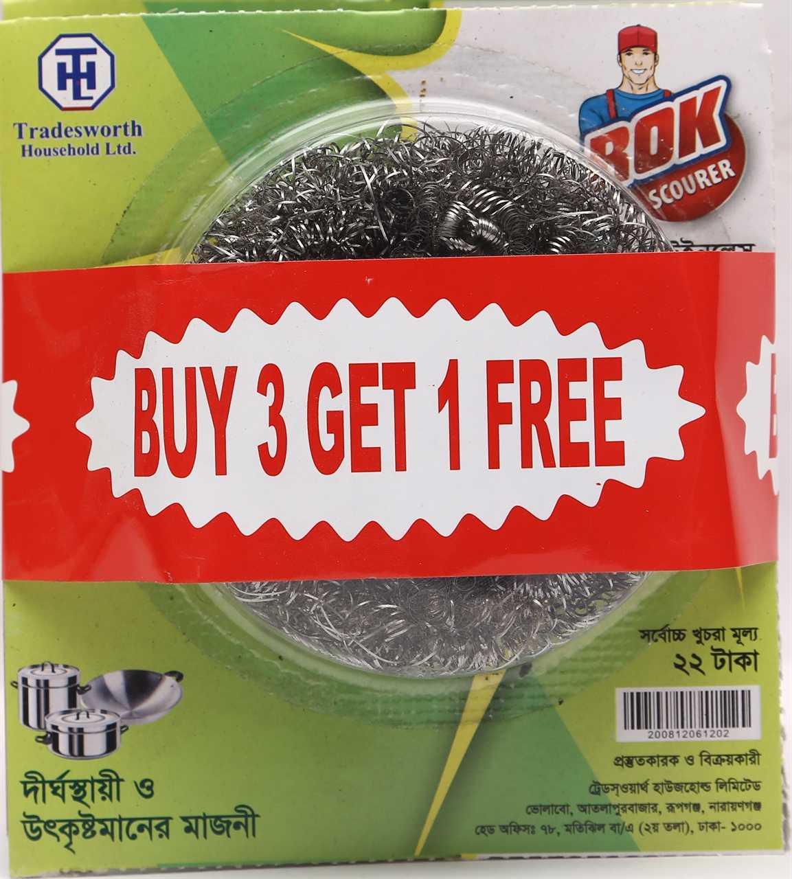 Rok Steel Scourer Buy 3 Get 1 Free