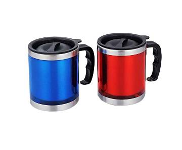 Stainless Steel Travel Coffee Mug - 1Pcs