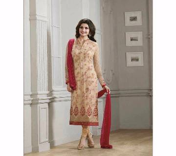 Indian Semistitched Embroidery Georgette Three pcs - Copy