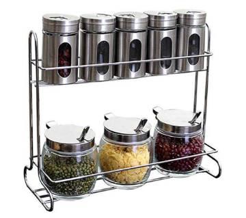 kitchen storage spice pot
