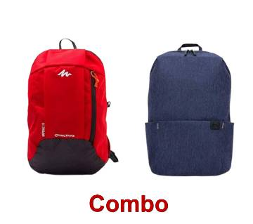Quechua Small Travel Backpack and Casual Backpack Combo