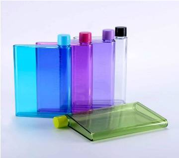 NOTEBOOK SHAPED WATER BOTTLE - 420ML (1 PCS)