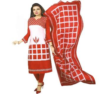 unstitced printed cotton salwar kameez - copy