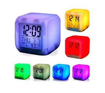 7 Color Digital LED Clock With Alarm