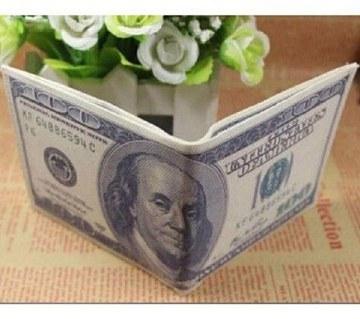 Dollar printed regular shaped wallet
