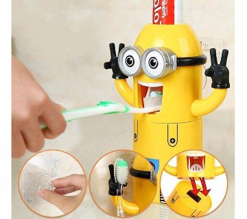 Minions Toothpaste Dispenser & Brush Holder
