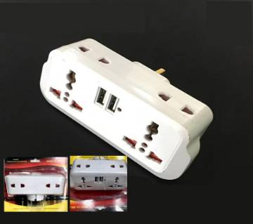 6 in 1 Multi function adaptor (808-1) 4 Plug socket with 2 USB