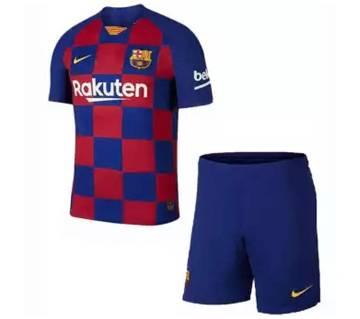 Barcelona Home Full Sleeve Jersey + Short Pant