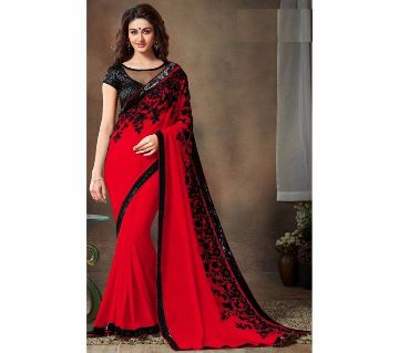 Red georgette party sh