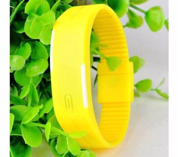 Yellow LED স্পোর্টস ওয়াচ