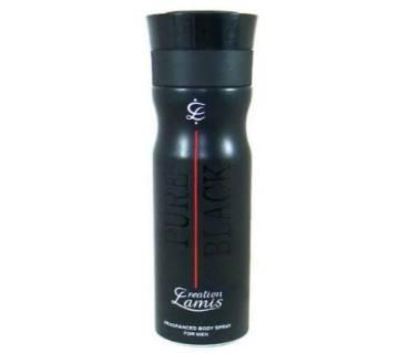 Creation Lamis Pure Black Body Spray 200ml. U.A.E