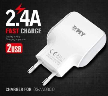 EMY 2.4A Fast Charger For Android