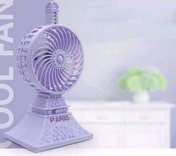 Paris Mini Desktop Usb Fan (Sky Color)