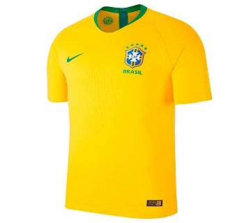 2018 World Cup Brazil Half Slave Home Jersey