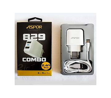 ASPOR 2.4A Quick Charger For Android