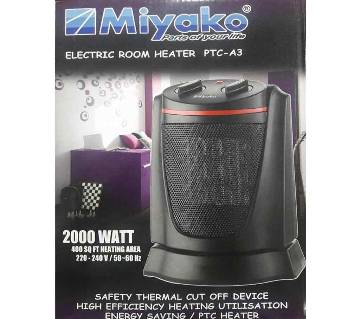 Miyako Electric Room Heater PTC (A3-Black)
