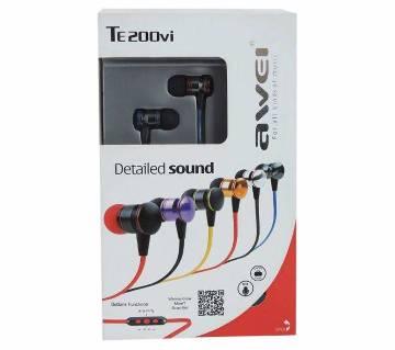 Awei TE 200vi In Ear Headphone - Black