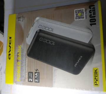 Awei P28K 10000mAh Super-Fast Charging 2 USB Port Power Bank
