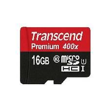 Transcend 16GB Micro SDHC মেমোরি কার্ড - Black