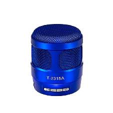 Portable Wireless Bluetooth Speaker Metal ( Blue )